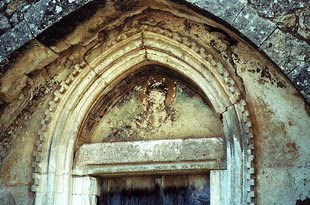 The portal of the church of the Panagia, Monohoro
