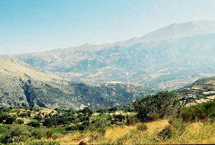 Psiloritis und das Amari-Tal, von Ano Meros, Amari, aus gesehen