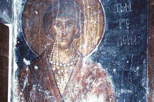 A fresco in the church of Agios Nikolaos, Vizari