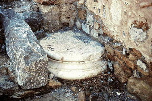 Ancient remainders used in  Agios Ioannis Theologos Church in Lendas