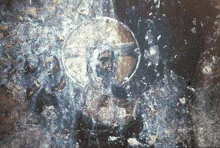 Une fresque dans l'église d'Agii Theodori dans d'Agios Kirilos