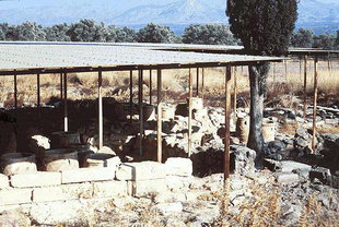 The pithari of the Minoan farm in  Mitropolis