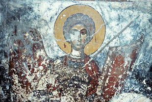 A fresco in Agios Ioannis Church in Agios Ioannis, Amari