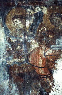 Une fresque dans l'église de la Panagia de Spili