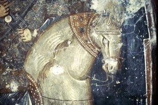 Detail of a fresco in Agios Georgios Xifoforos Church in Apodoulou