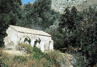 The Byzantine church of Agios Georgios Xifoforos in Apodoulou