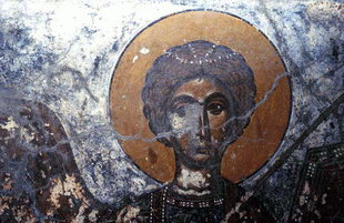 A fresco in Agios Ioannis Church in Agios Ioannis