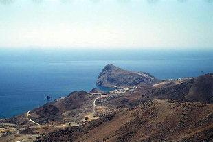 Le village de Lendas et la péninsule en forme de lion