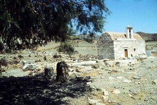 Die byzantinische Agios Ioannis Theologos-Kirche in Lendas
