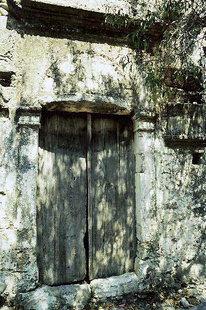 Un portail de la fa(ade de la villa Vénitienne à Kalathenes