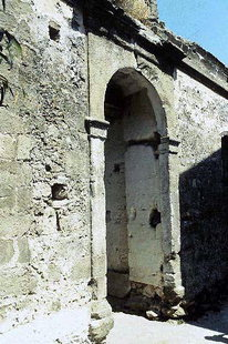The front portal to the Venetian villa in Kalathenes