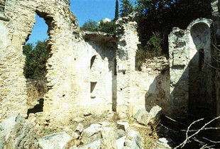 The remains of the 15C Agia Varvara Church in Latsiana