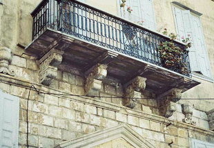 The balcony of a large Venetian mansion in Rethimnon