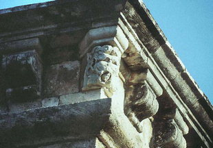 The human-faced gargoyle of the Loggia in Rethimnon