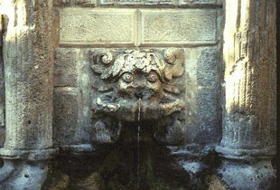 A detail of the 16C Rimondi Fountain, Rethimnon