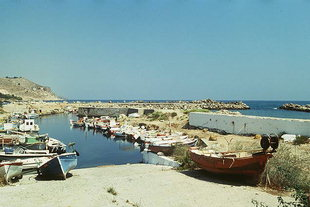 The small sport-fishing boat harbour in Kolimbari