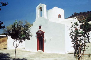The Byzantine church of Agios Pandeleimonas in Nopigia