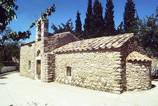 The Byzantine church of Sotiras Christos, Akoumia