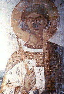 A fresco in Agios Ioannis Church in Kissos