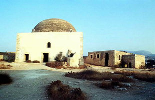 The Ibrahim Han Mosque and the Bishop's Palace of the Fortezza, Rethimnon