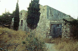 The unidentified buildings in the Fortezza and the door that led to the W.W. II prisoner area