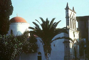 The dome and belfry of the Panagia in Kirianna