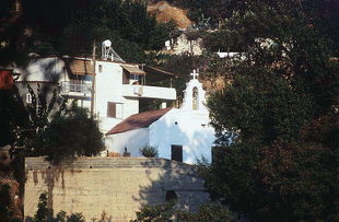 Die byzantinische Kirche Agia Triada und Agios Nikolaos in Agia Triada