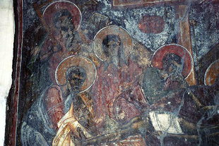 A fresco in Agia Triada and Agios Nikolaos in Agia Triada