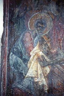 Μια τοιχογραφία στην εκκλησία της Αγίας Τριάδας και του Αγίου Νικολάου στην Αγία Τριάδα
