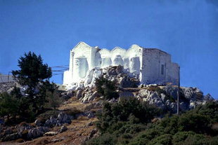 The four-aisled church atop Mount Youktas