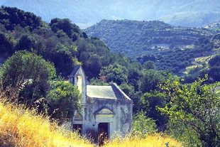 Die byzantinische Panagia Kera-Kirche in Sarhos