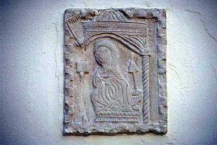 Décoration en relief dans le Monastère de Palianis