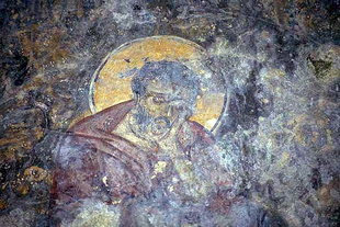 A fresco in Astratigos Church in Kardaki
