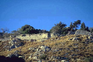 Fortifications du fort Byzantin de Temenos