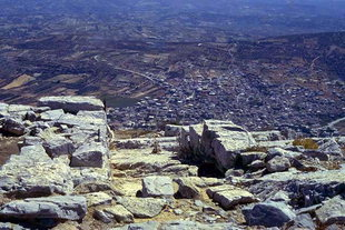 The Minoan sanctuary on Mount Youktas overlooking Arhanes