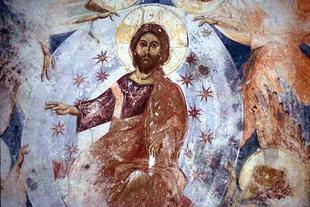 The Ascension of Christ fresco in Agios Ioannis Church, Episkopi