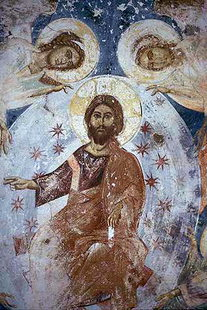 The Ascension of Christ fresco in Agios Ioannis, Episkopi