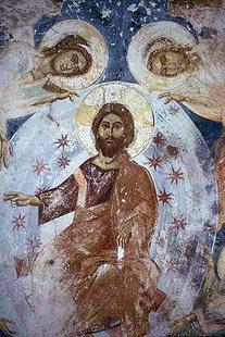 Η τοιχογραφία της Αναλήψεως του Χριστού στην εκκλησία του Αγίου Ιωάννη στην Επισκοπή