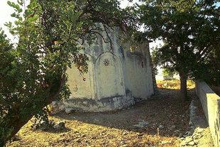 Die blinden Bögen der Panagia-Kirche in Kastri