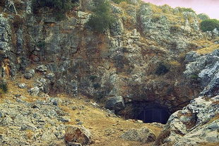 The mouth of the Melidoni Cave