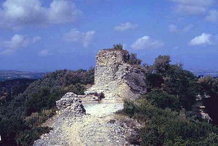 The Roman tower in Eleftherna