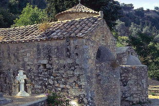 The Byzantine church of Sotiras Christos in Eleftherna