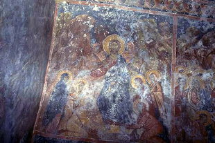 A fresco in the Panagia Church, Kamariotis