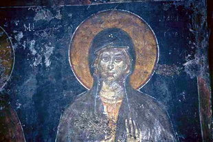 A fresco in Agios Ioannis Church, Anogia