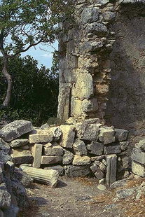 Remains of an early Christian church in Eleftherna