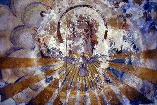 Das Fresko mit dem Heiligen Geist in der Panagia-Kirche, Kastri