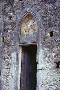 The portal of Agios Antonios Church, Aggeliana