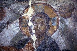 Der Pantokrator in der Agios Georgios-Kirche, Heliana