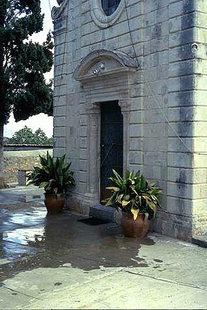 Portal von der Panagia-Kirche in Tsikalaria