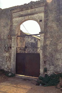 The portal of a Venetian construction in Sternes
